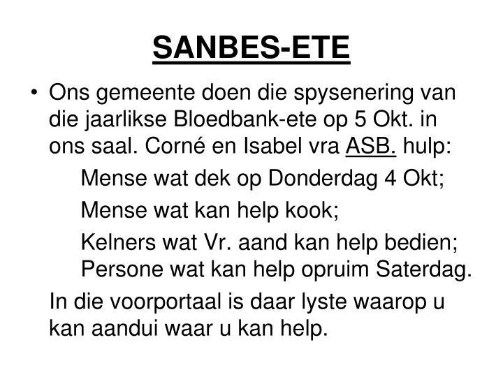 SANBES-ETE