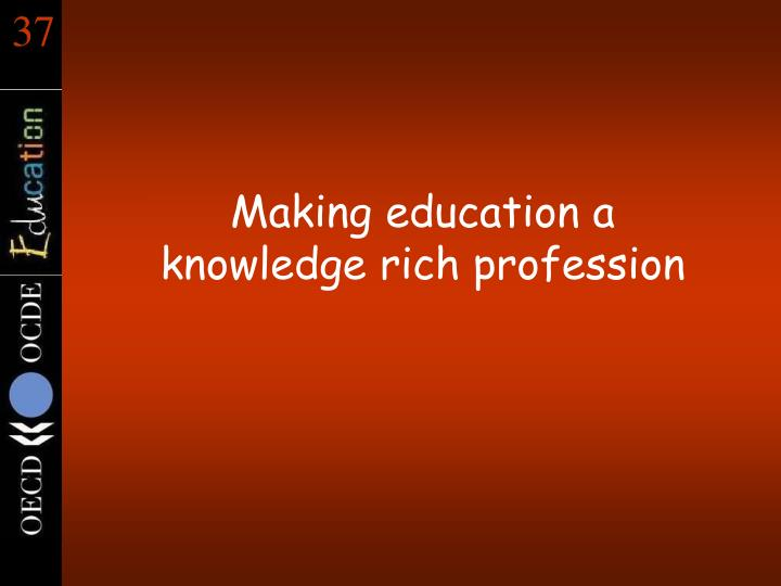 Making education a