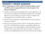 request v review guidance