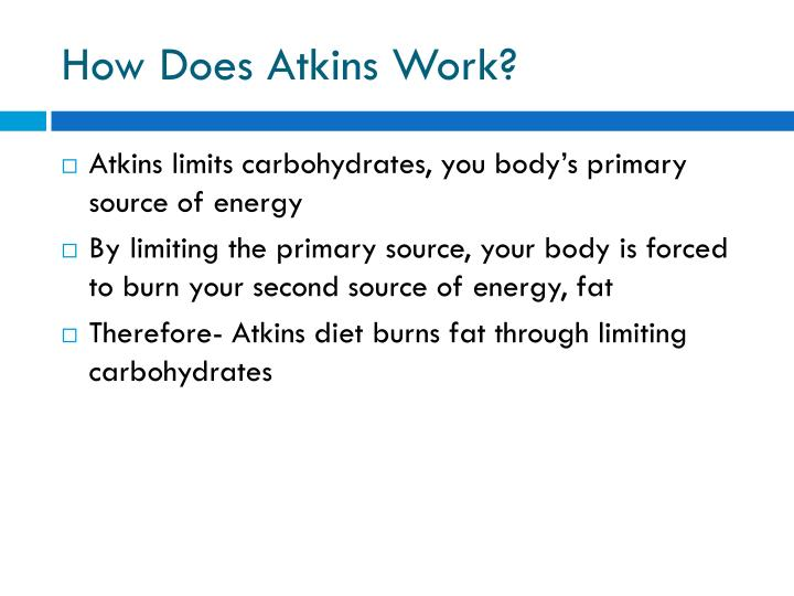 How Does Atkins Work?