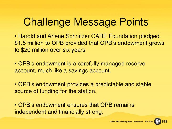 Challenge Message Points