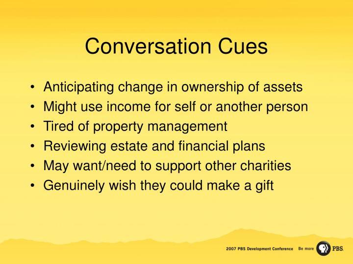 Conversation Cues