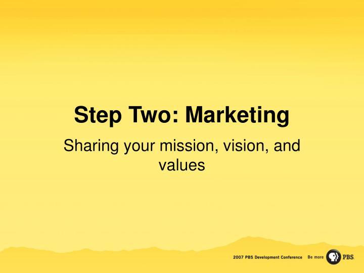 Step Two: Marketing