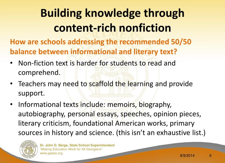 Building knowledge through