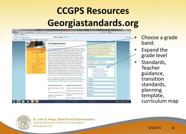 CCGPS Resources