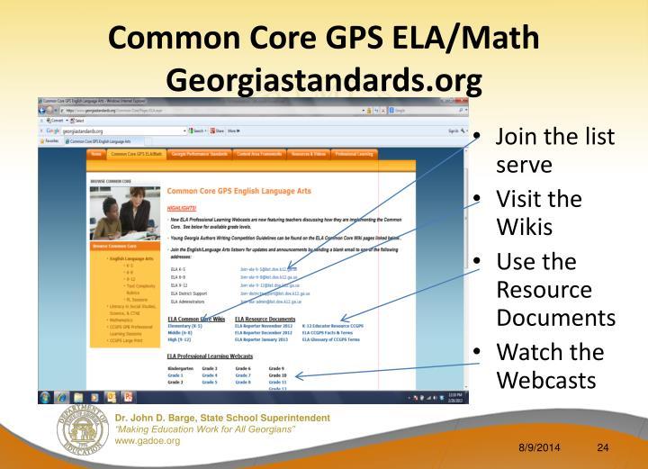 Common Core GPS ELA/Math