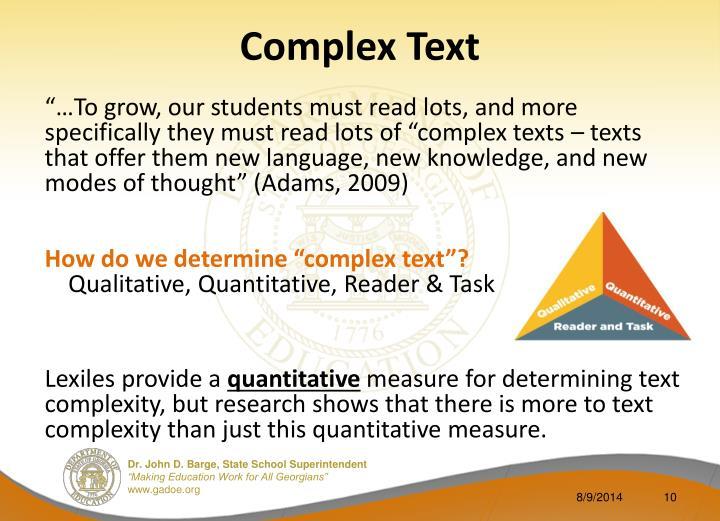 Complex Text
