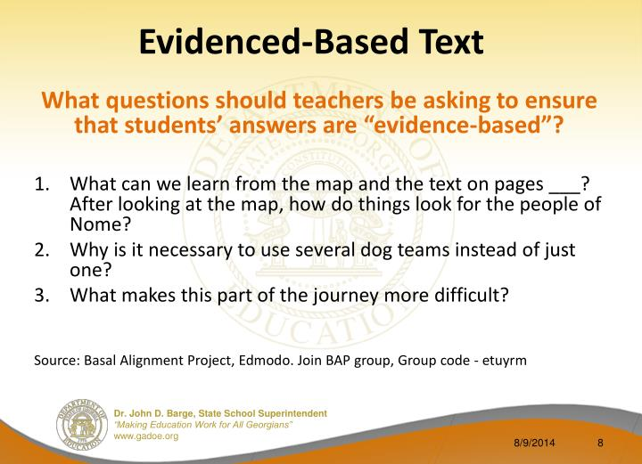 Evidenced-Based Text