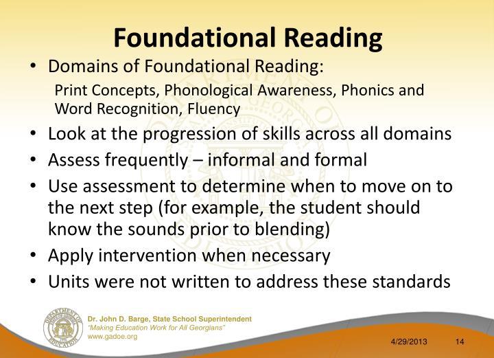 Foundational Reading