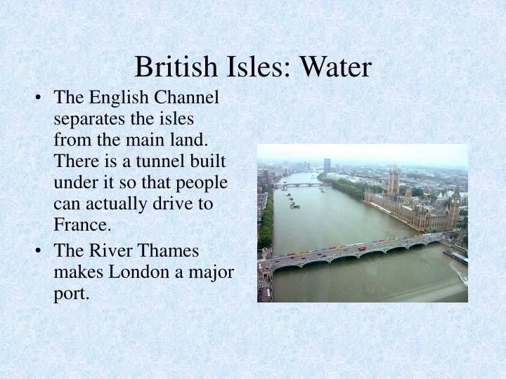British Isles: Water