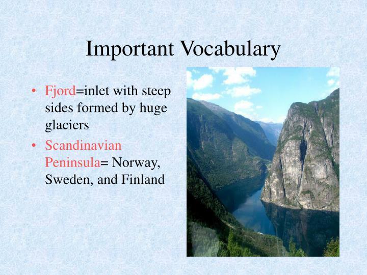 Important Vocabulary
