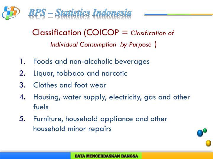 Classification (COICOP =