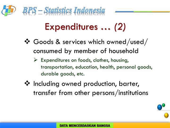 Expenditures …