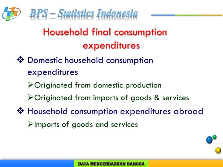 Household final consumption expenditures