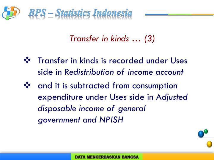 Transfer in kinds … (3)