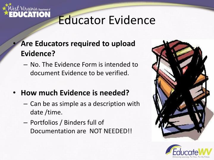 Educator Evidence