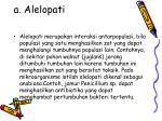 a alelopati