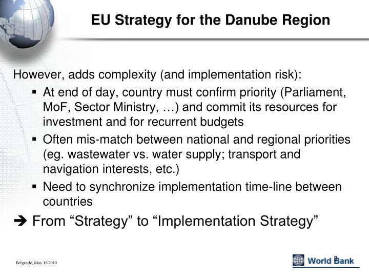 Eu strategy for the danube region1