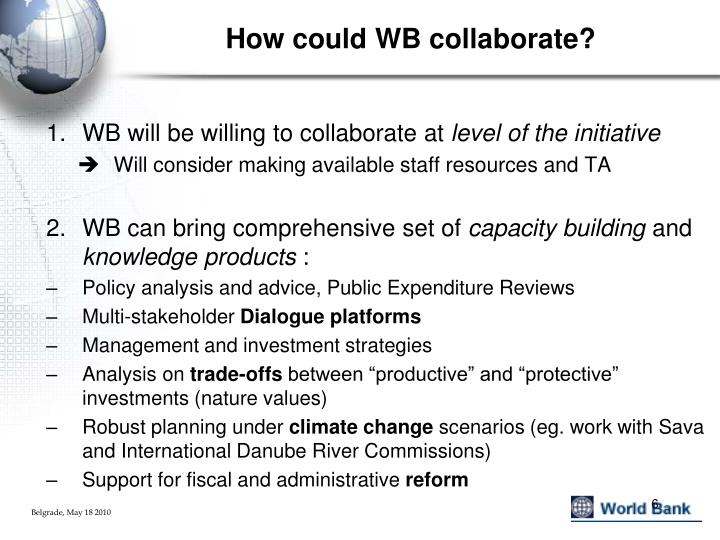 How could WB collaborate?