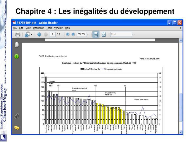 Chapitre 4: Les inégalités du développement