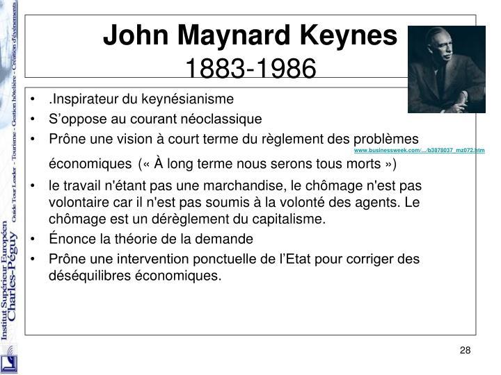 .Inspirateur du keynésianisme