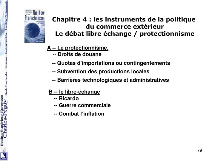Chapitre 4 : les instruments de la politique