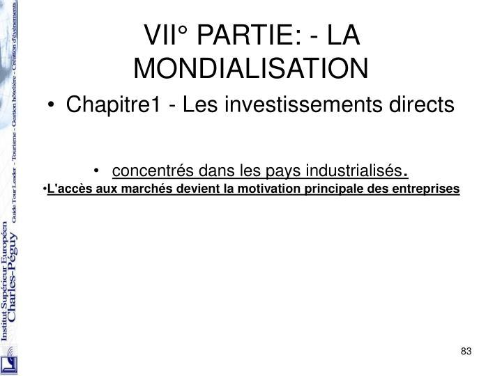 Chapitre1 - Les investissements directs