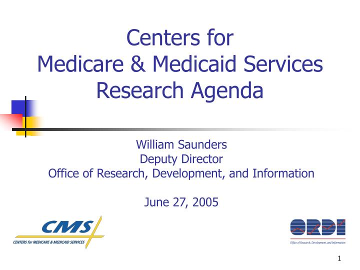 centers for medicare medicaid services research agenda n.