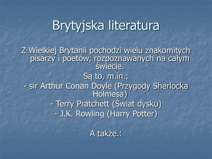 Brytyjska literatura