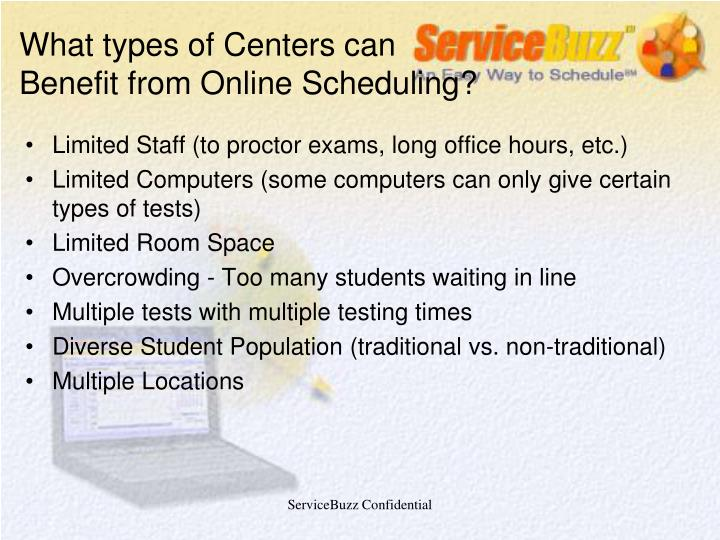 What types of Centers can