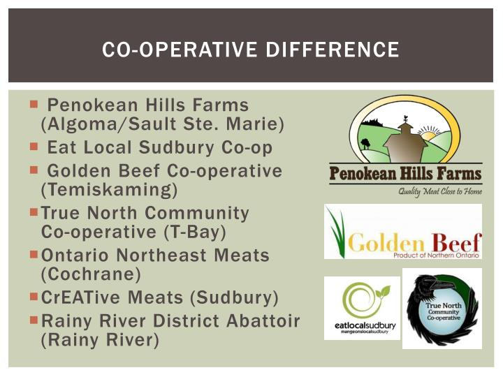Co-operative difference