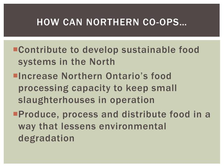How can northern co-ops…