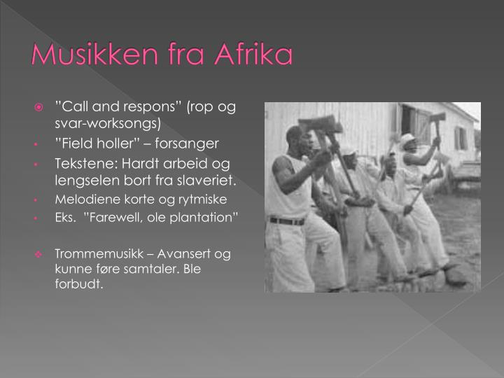Musikken fra afrika