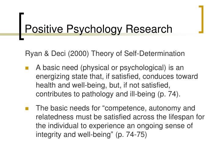 Positive Psychology Research