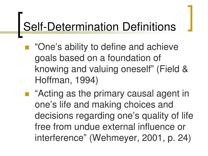 Self-Determination Definitions