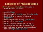 legacies of mesopotamia