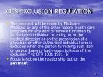 cms exclusion regulation