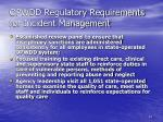 opwdd regulatory requirements for incident management