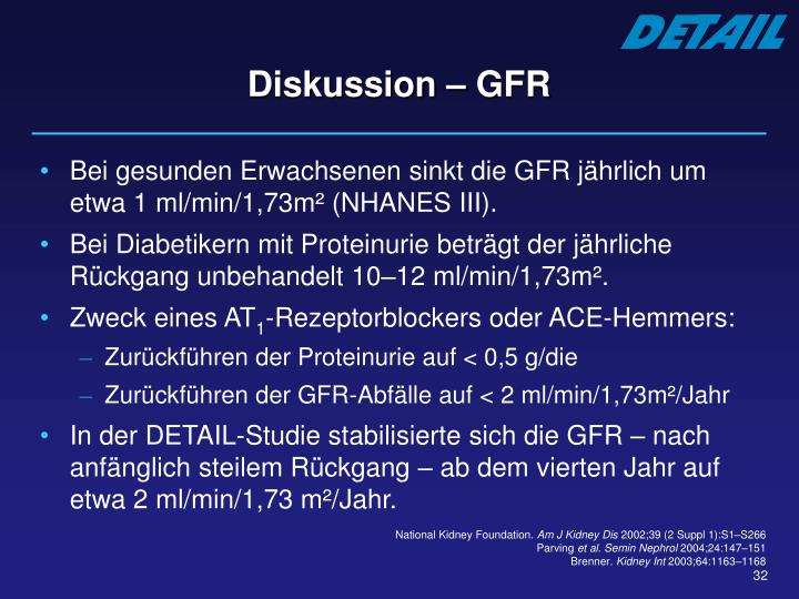 Diskussion – GFR