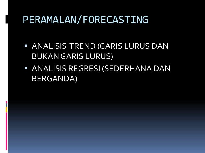 Peramalan forecasting