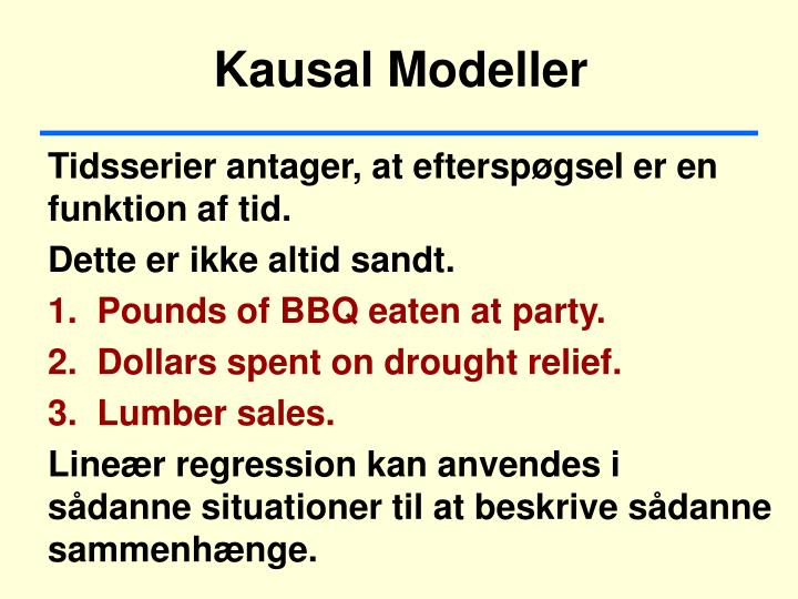 Kausal Modeller