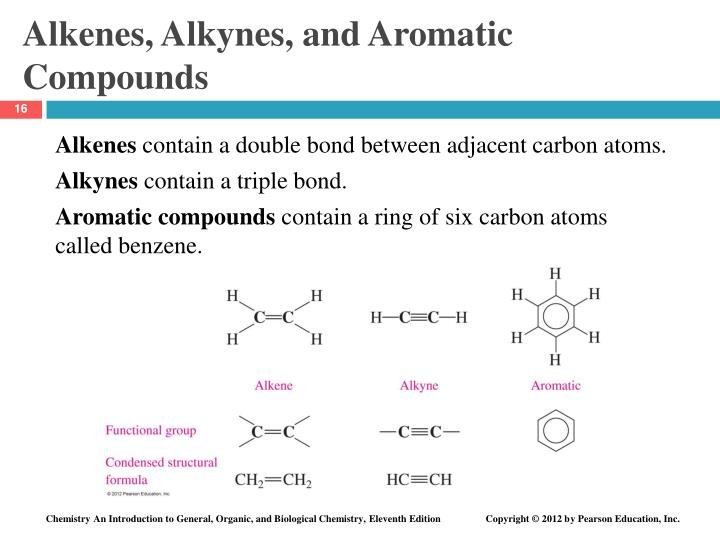 Alkenes, Alkynes, and Aromatic Compounds
