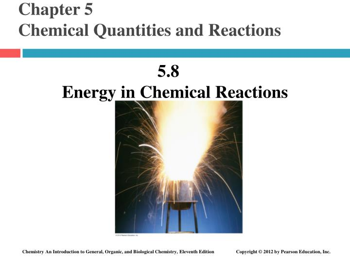 Chapter 5 chemical quantities and reactions