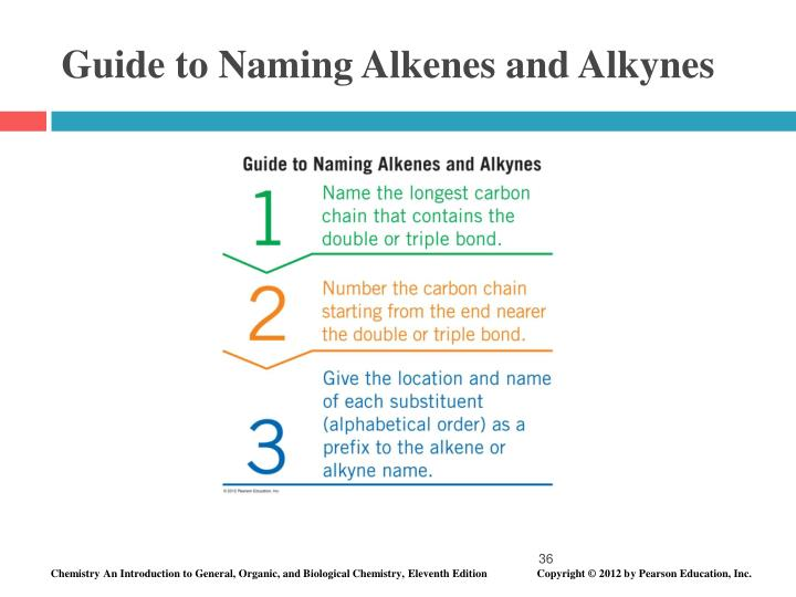 Guide to Naming Alkenes and Alkynes