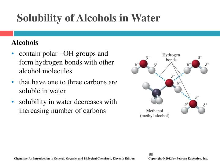 Solubility of Alcohols in Water
