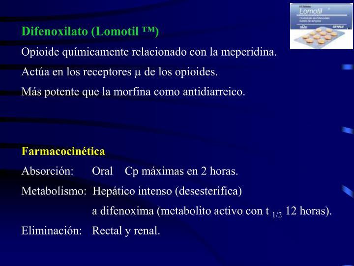 Difenoxilato (Lomotil ™)