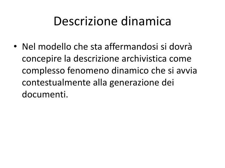 Descrizione dinamica