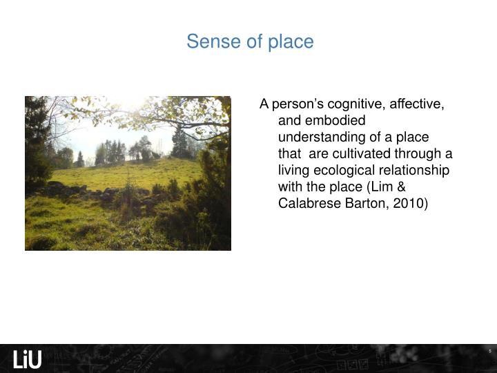 Sense of place