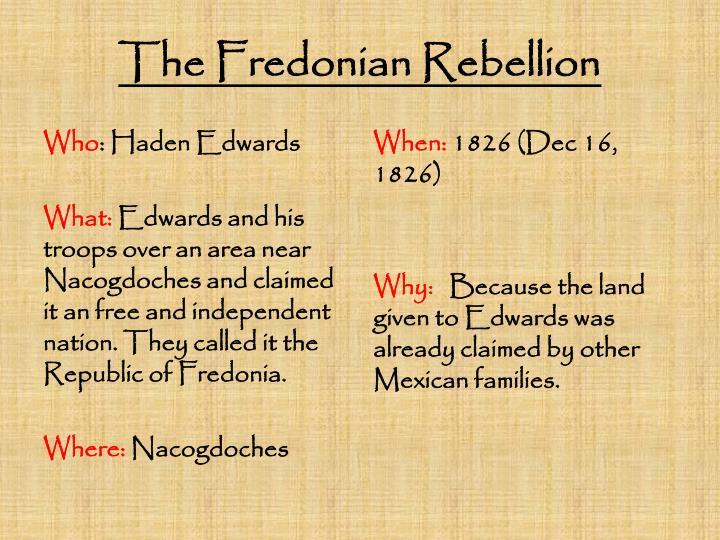 The fredonian rebellion