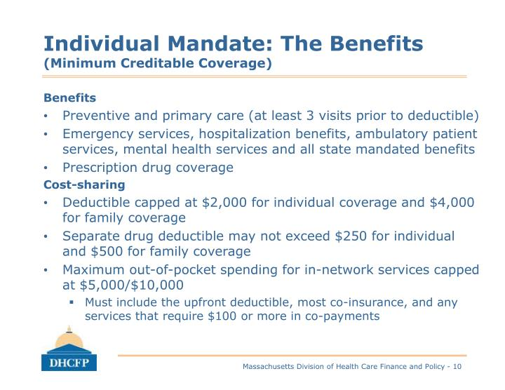 Individual Mandate: The Benefits